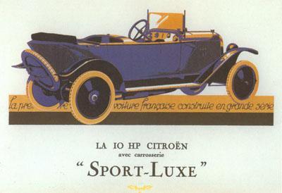 10 HP Type A Torpédo Sport Luxe