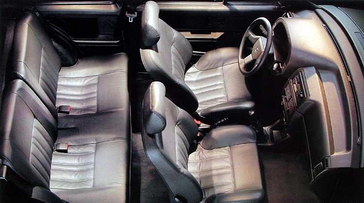 AX exclusive 3 portes 1992 intérieur