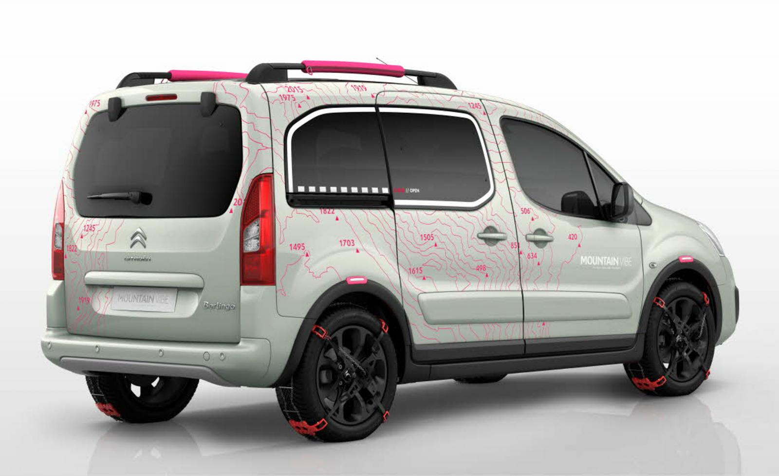 Berlingo Mountain Vibe 2015 concept 3/4 arrière