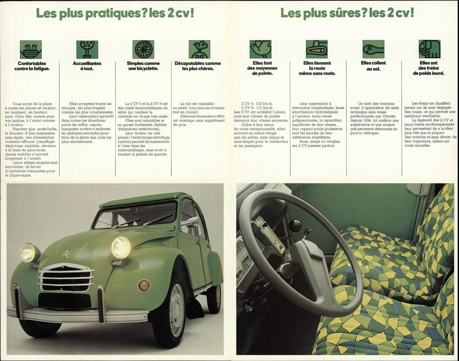 Brochure 2 CV année-modèle 1974