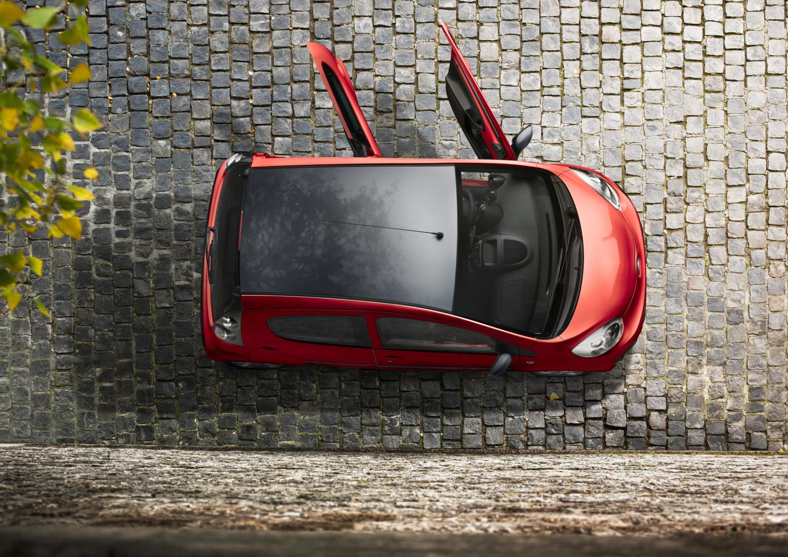 C1 1ere génération Bi-Ton 2013 vue de haut portes ouvertes