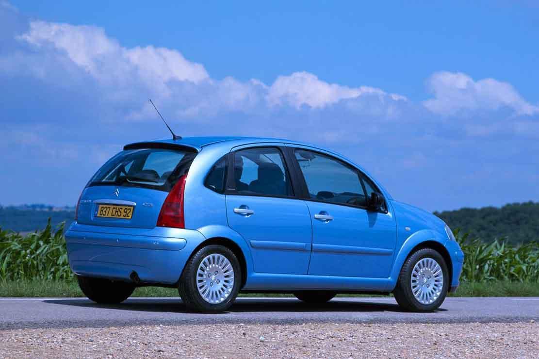 C3 Exclusive 2002 Bleu Lucia 3/4 arrière