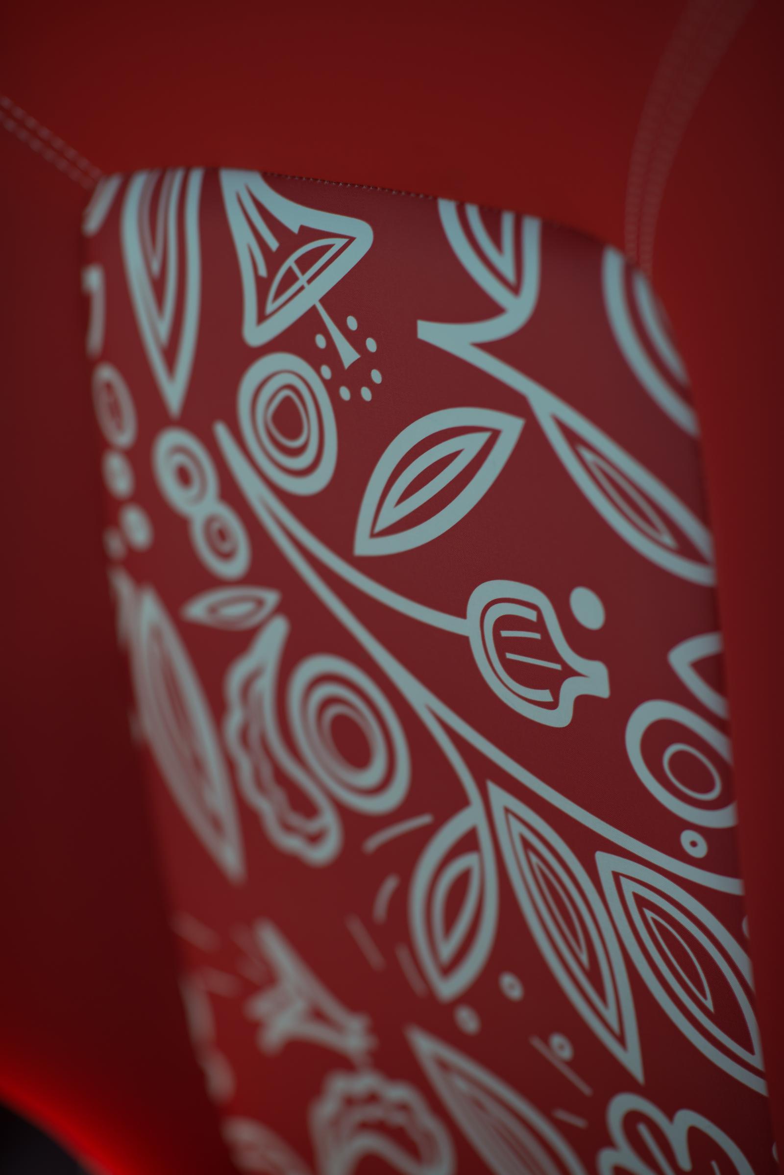 E-MEHARI 2016 motif intérieur rouge