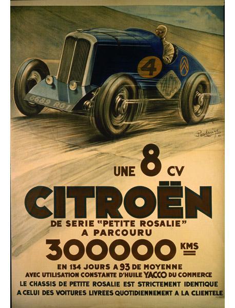 Малышка Rosalie -  Автомобиль-рекордсмен (постер 1932г.)