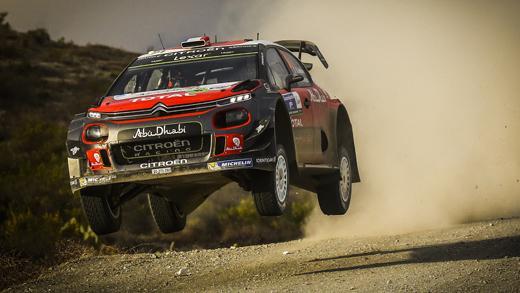 Jump de C3 WRC au rallye du Mexique